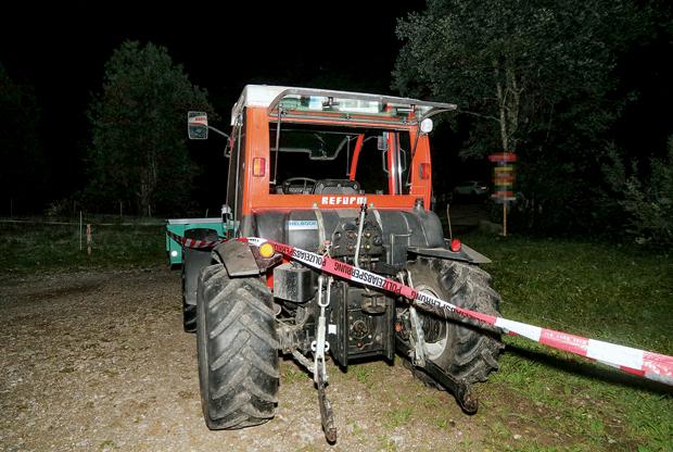 traktor unfall