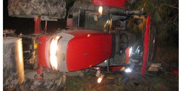 Traktor 100 Meter abgestürzt
