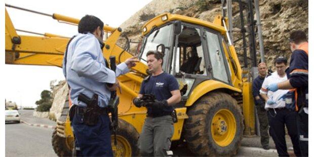 Wieder Bulldozer-Anschlag in Jerusalem