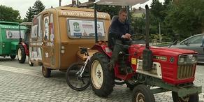 Mit dem Traktor von Polen nach Frankreich