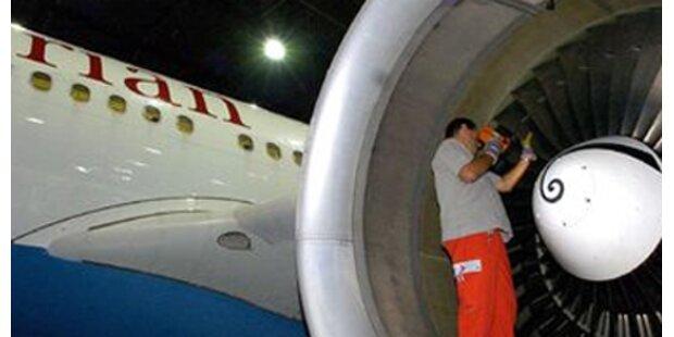 Triebwerk von AUA-Jet qualmte