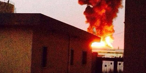 Tripolis: Gigantische Explosion befürchtet
