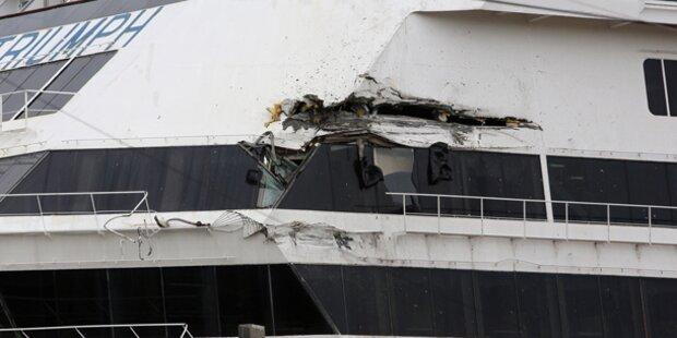 Kreuzfahrtschiff baut nächsten Crash