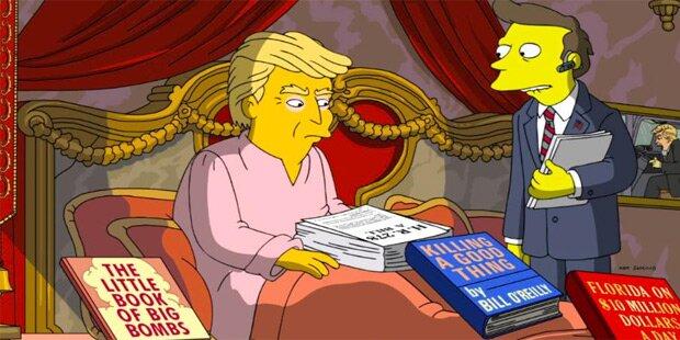 So rechnen die Simpsons mit Trump ab