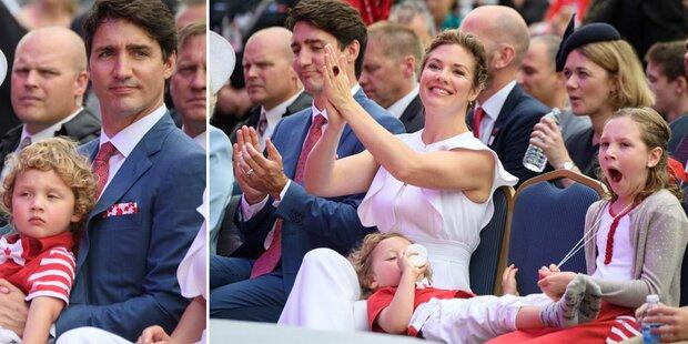 Justin Trudeau: Ein ganz normaler Papa