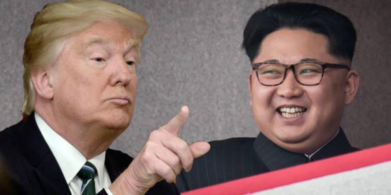 Irrer Kim lacht Donald Trump aus