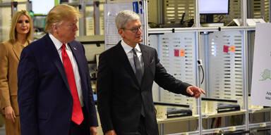 Trump eröffnet Apple-Werk, das es seit 2013 gibt