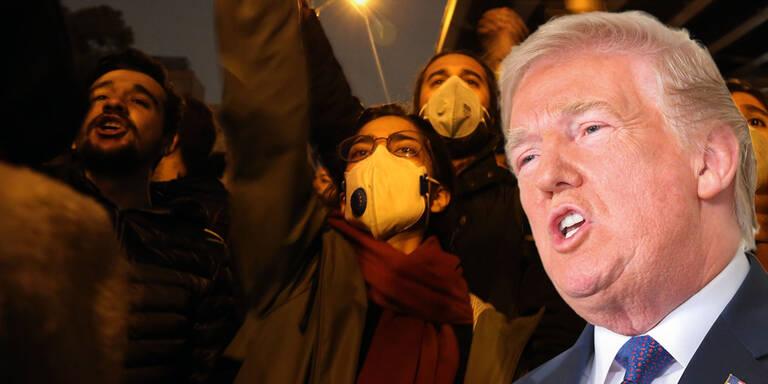 Trumps Mut-Botschaft an Protest-Iraner