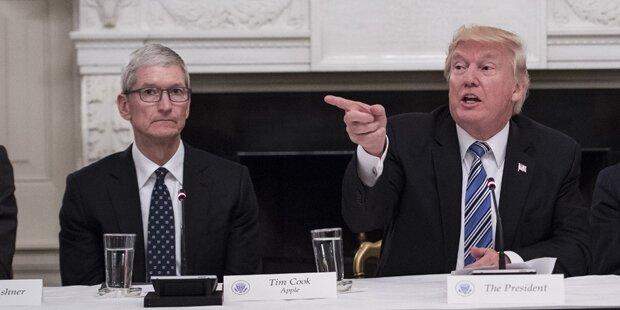 Meeting zwischen Trump und Apple-Chef Tim Cook