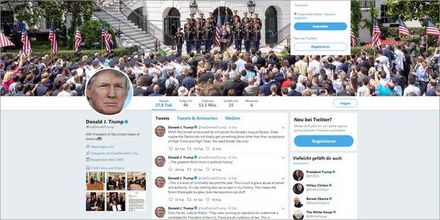 Trump: Herbe Niederlage im Twitter-Streit