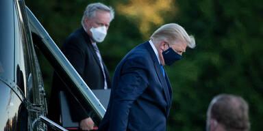 Arzt: Trump womöglich am Montag zurück im Weißen Haus