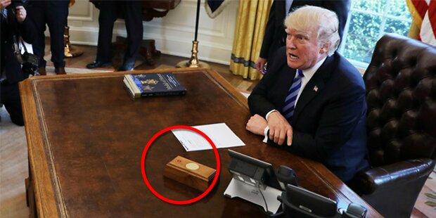 Das passiert, wenn Trump den roten Knopf auf seinem Schreibtisch drückt