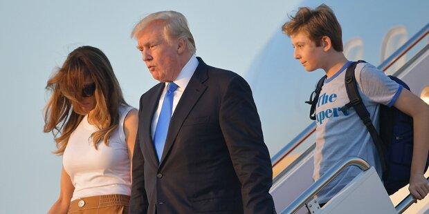 Melania und Barron im Weißen Haus eingezogen