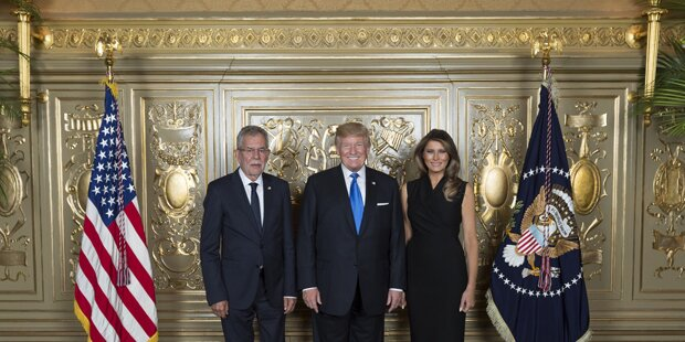 Foto-Fauxpas bei VdB-Treffen mit Trump