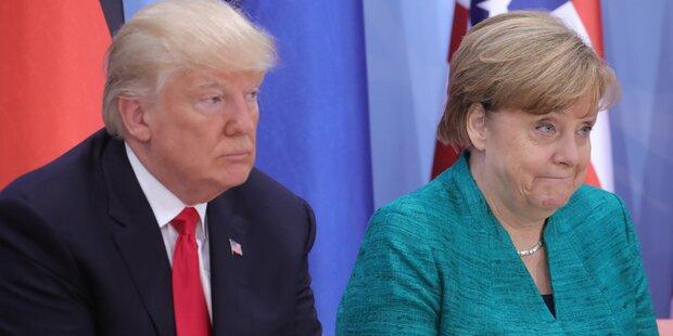 Merkel-Besuch: Trumps Klo-Geheimnis