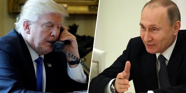 Trump musste Telefonat mit Putin unterbrechen