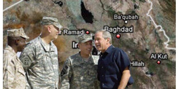 Bush möchte US-Truppen dauerhaft im Irak