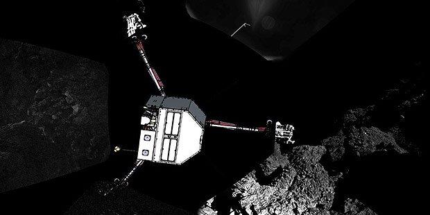 Komet Tschuri: 10 cm Staubschicht
