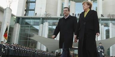 Griechen-Premier Tsipras bei Merkel