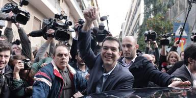 Athen: Erdrutsch- Sieg für Tsipras