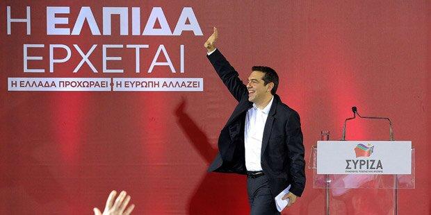 Griechische Linke vor Wahl-Triumph