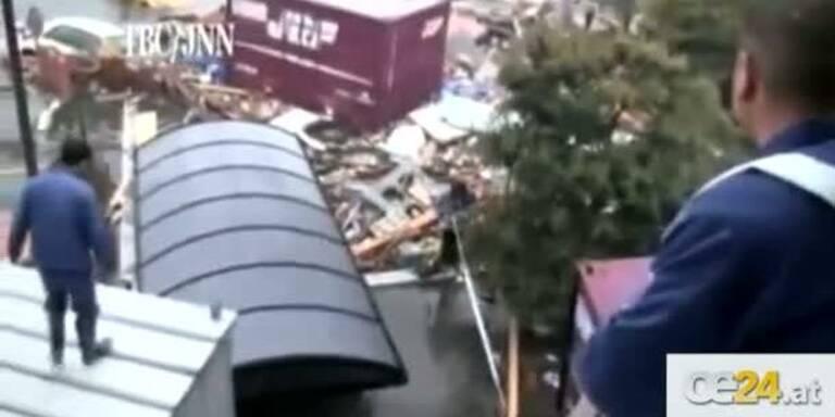 Amateurvideo zeigt Tsunami-Rettung