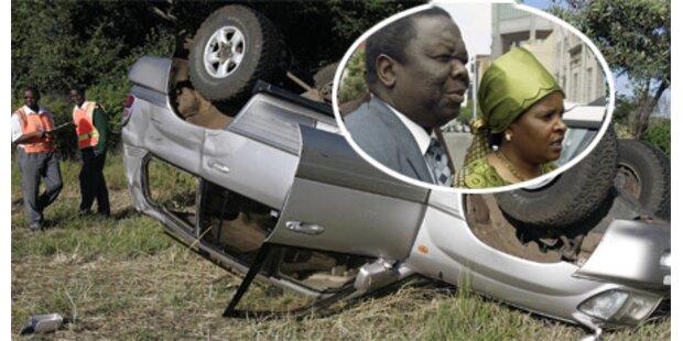 Tsvangirai bei Unfall verletzt, Frau tot