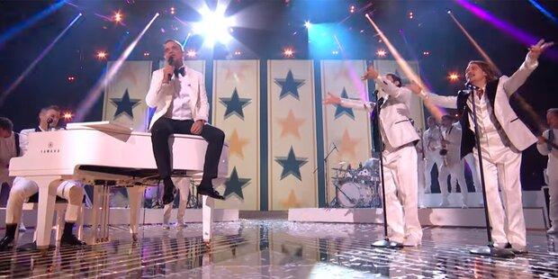 Sensation! Take That tritt mit Robbie auf