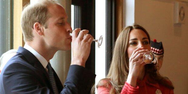 Kate & Will genießen Whisky-Verkostung