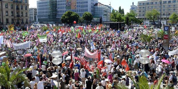 München: Erste Demo gegen G-7-Gipfel