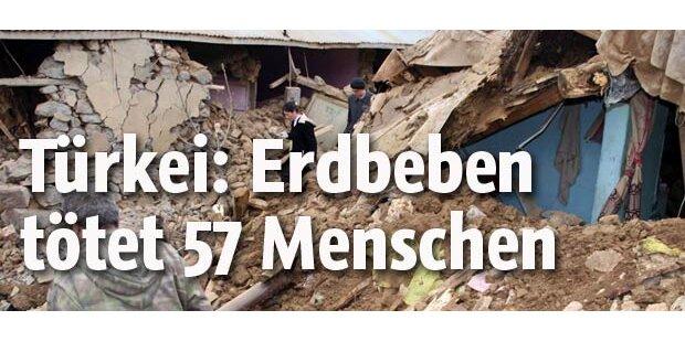 Erdbeben reißt 57 Menschen in den Tod
