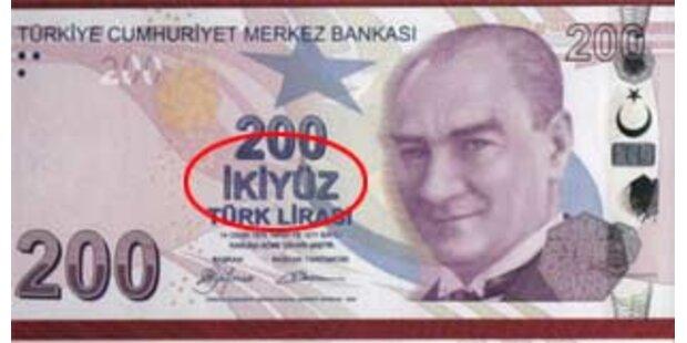 Peinlicher Schreibfehler auf neuen Banknoten