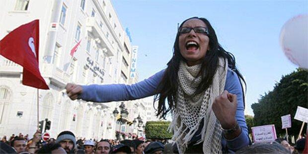 Straßenschlachten im Zentrum von Tunis