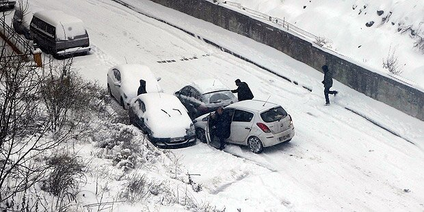 Schnee sorgt für Chaos in der Türkei