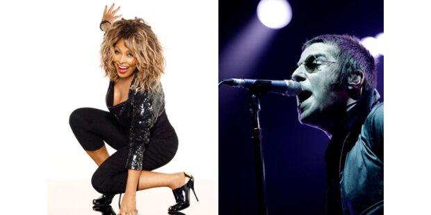 Tina, Oasis & die Kaiser Chiefs kommen im Februar