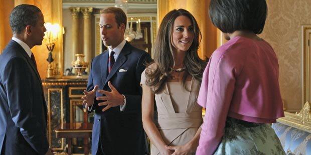 William und Kate: Tratsch mit den Obamas