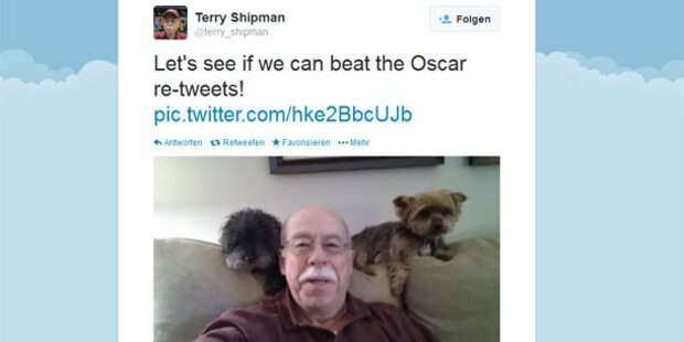 Kleine Hunde sollen Oscar-Selfie schlagen
