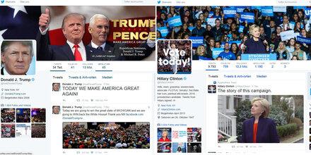 Clintons Top-Tweet schlägt Trump deutlich