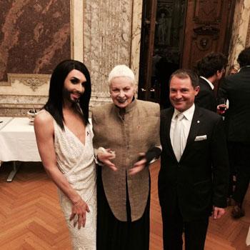 Conchita Wurst mit Vivienne Westwood