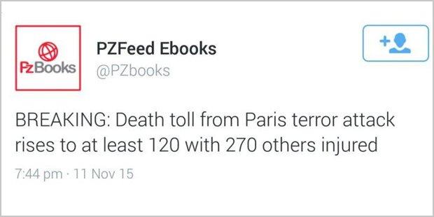 Paris-Anschläge auf Twitter vorhergesagt?