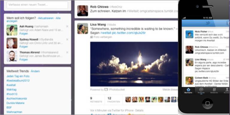 Twitter erscheint im völlig neuen Look
