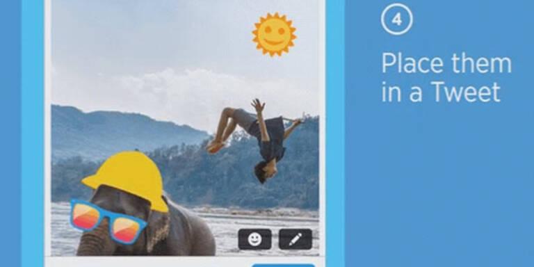 Twitter lässt Fotos mit Stickern verzieren