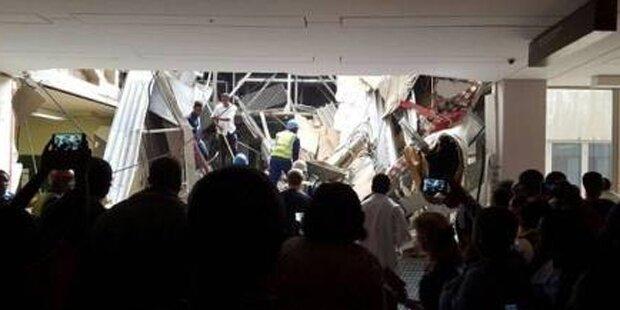 Spitalseingang in Johannesburg eingestürzt