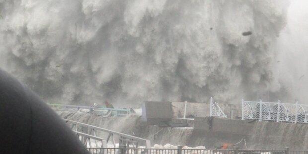 Taifun sucht Japan und Südkorea heim
