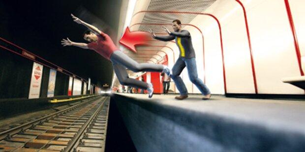 Polizei jagt irren U-Bahn-Schubser
