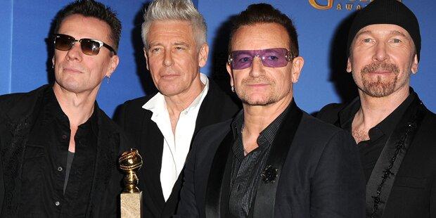 U2 holen sich einen Bambi!