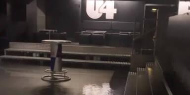 Starkregen: Wiener Kult-Disco steht unter Wasser