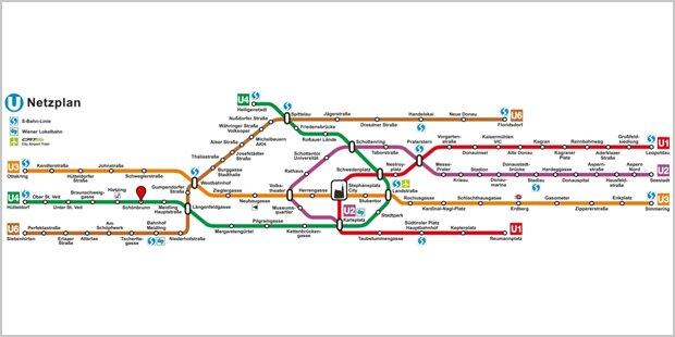 So sieht das Wiener U-Bahn-Netz wirklich aus