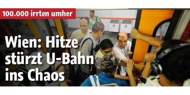Wien: Hitze stürzt U-Bahn ins Chaos