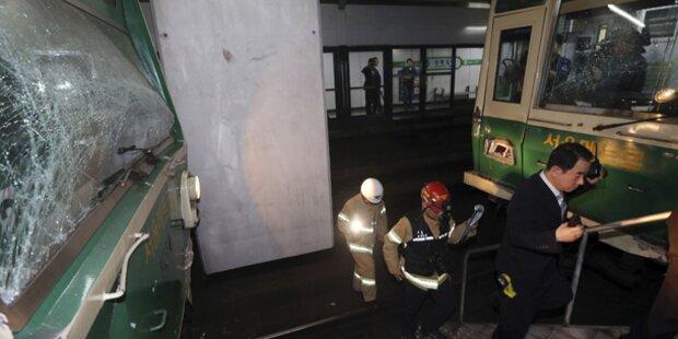 Schwerer U-Bahn-Unfall in Seoul